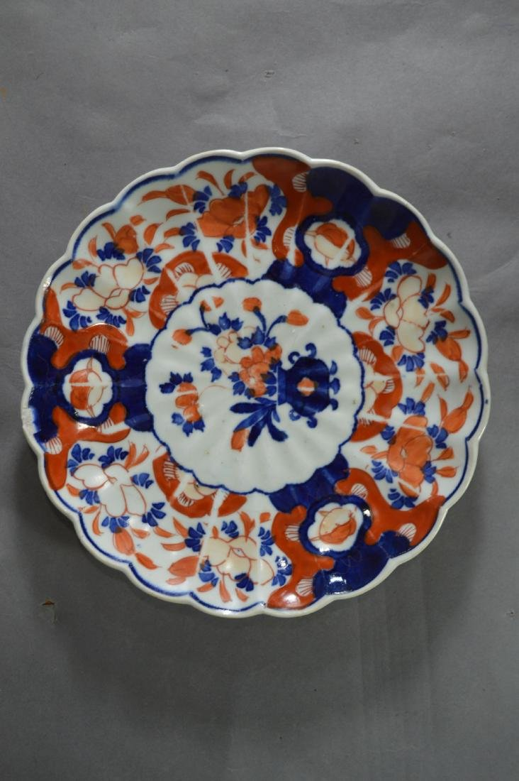 "8 ANTIQUE IMARI PLATES. 8 1/2""D AND SMALLER - 5"