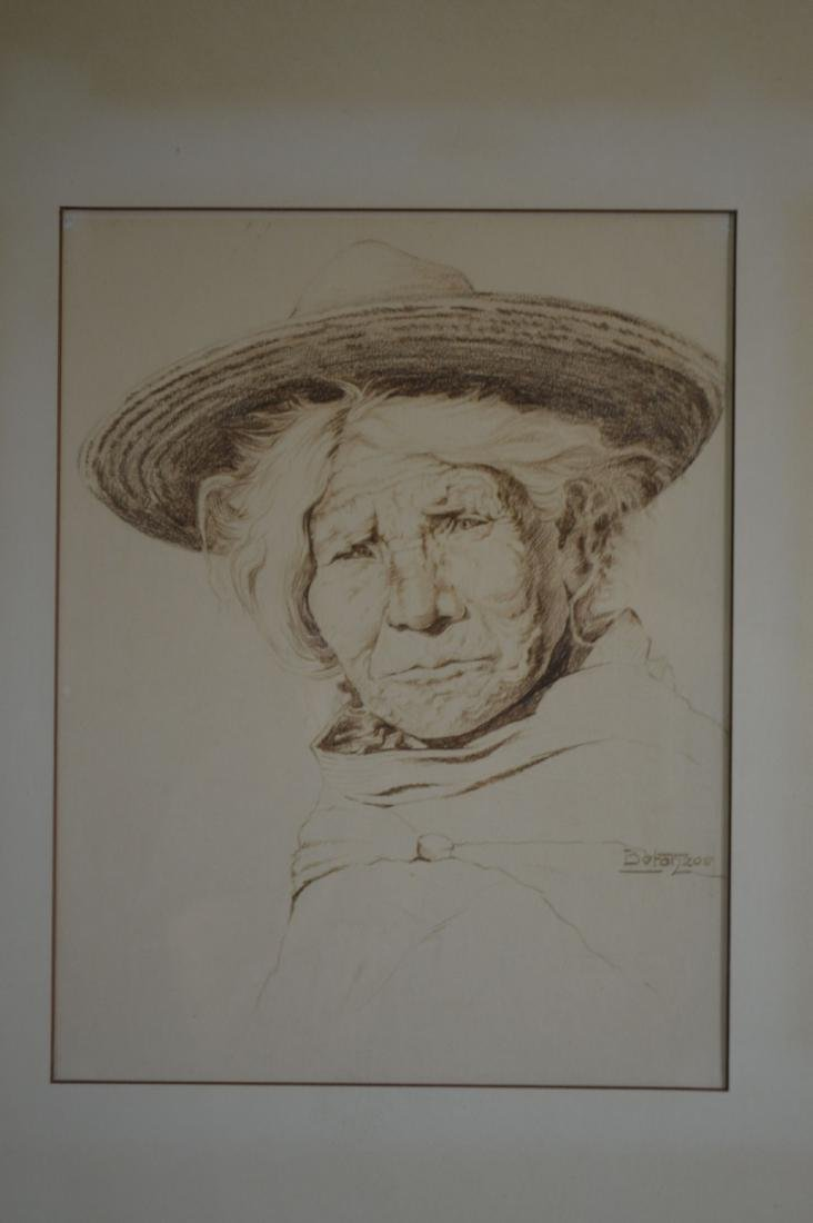 1939 PENCIL SKETCH PORTRAIT OF MEXICAN WOMAN BY - 2