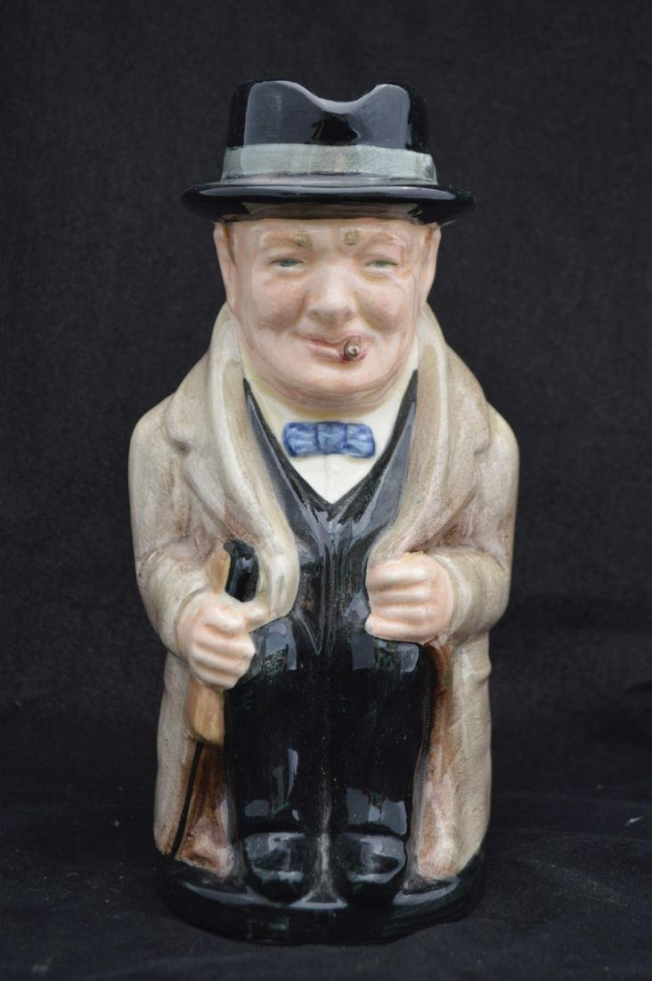 "ROYAL DOULTON WINSTON CHURCHILL CHARACTER MUGS , 9"" AND - 2"