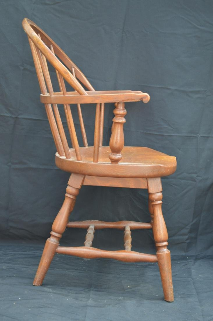 "2 SOLID OAK WINDSOR CHAIRS REMINGTON AND RAND. 36""T, - 3"
