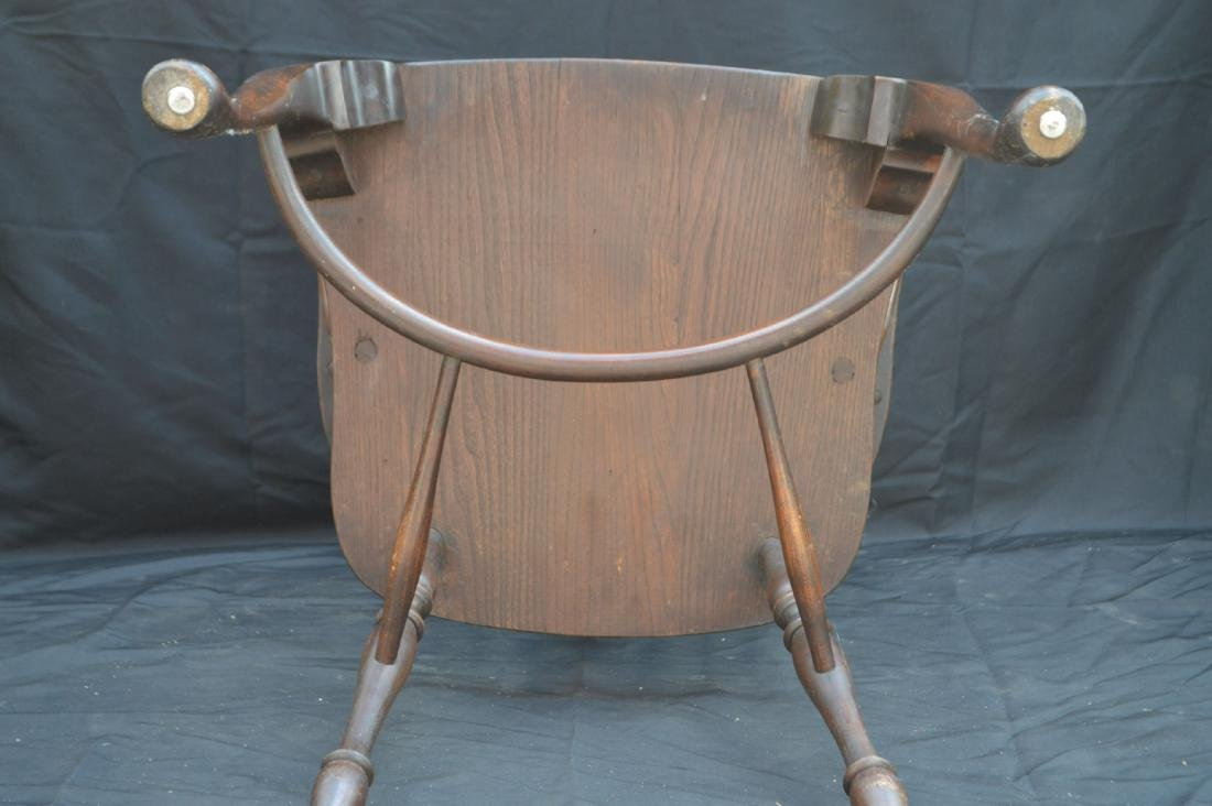 6 OAK QUEEN ANNE STYLE WINDSOR CHAIRS WITH WAGON WHEEL - 5
