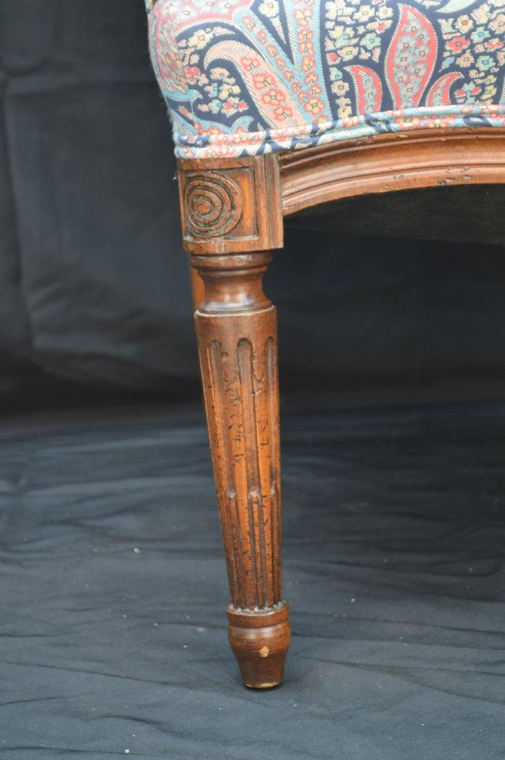 """CHIPPENDALE CHAIR WITH PAISLEY UPHOLSTERY. 42"""" x 24"""" x - 2"""