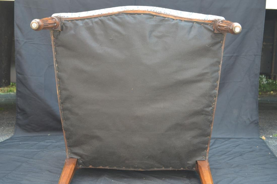 """CHIPPENDALE CHAIR WITH PAISLEY UPHOLSTERY. 42"""" x 24"""" x - 3"""