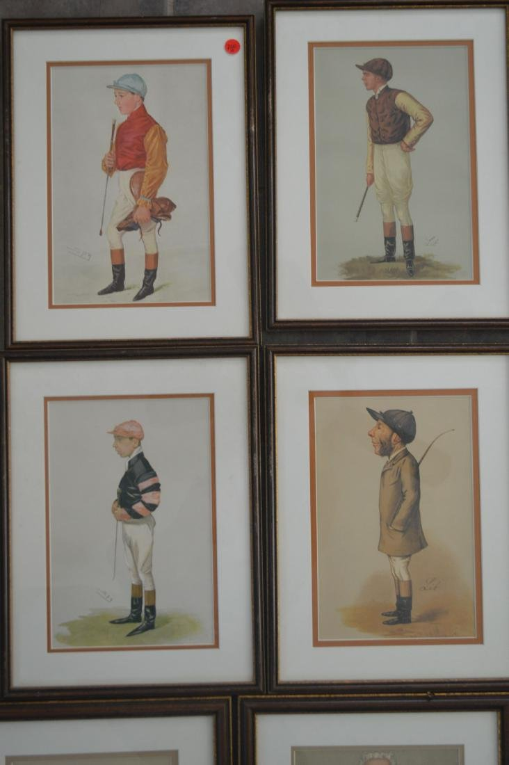 11 SPY PRINTS IN MATCHING FRAMES OF JOCKEYS AND JUDGES. - 2