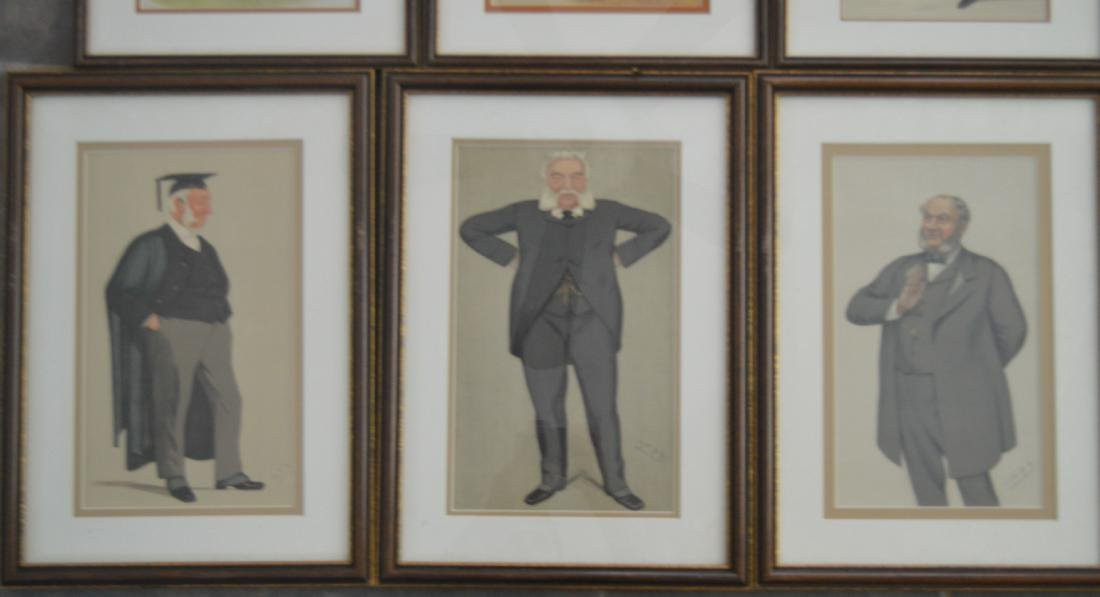 11 SPY PRINTS IN MATCHING FRAMES OF JOCKEYS AND JUDGES. - 3
