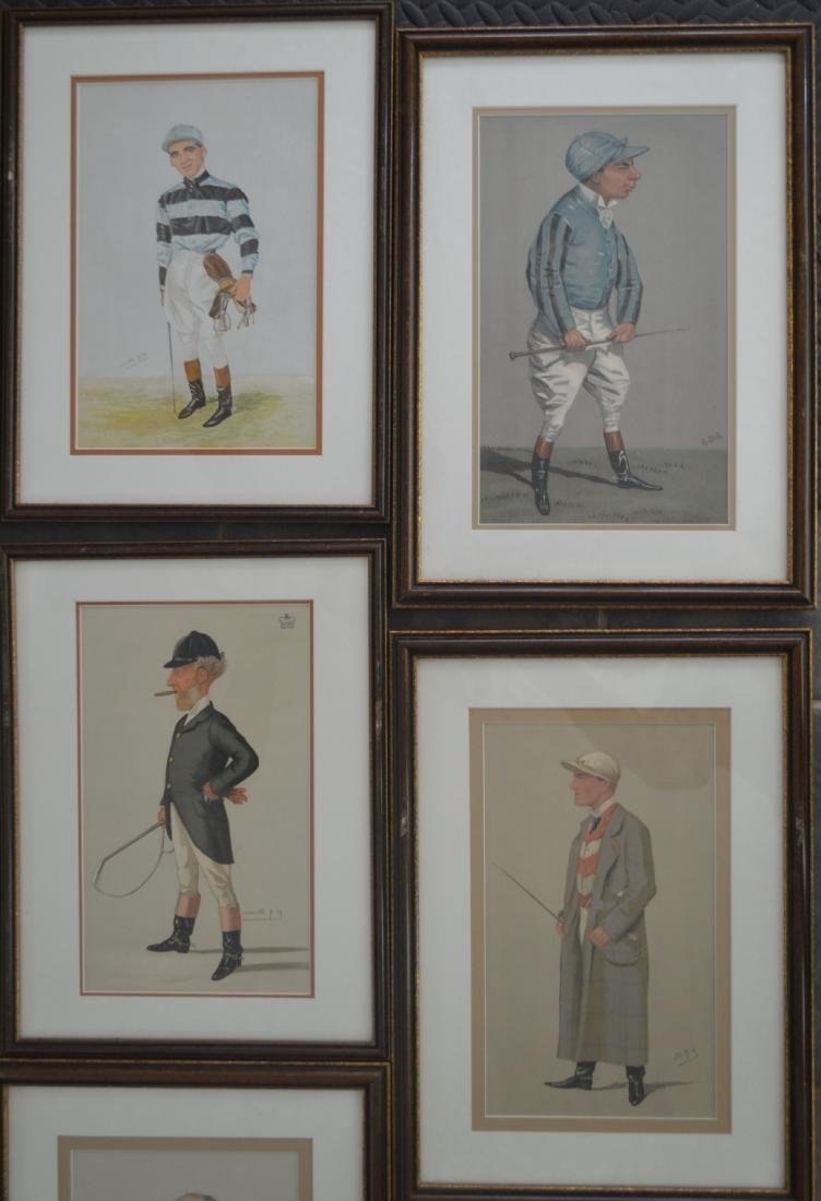 11 SPY PRINTS IN MATCHING FRAMES OF JOCKEYS AND JUDGES. - 4