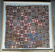 FRAMED ANTIQUE QUILT