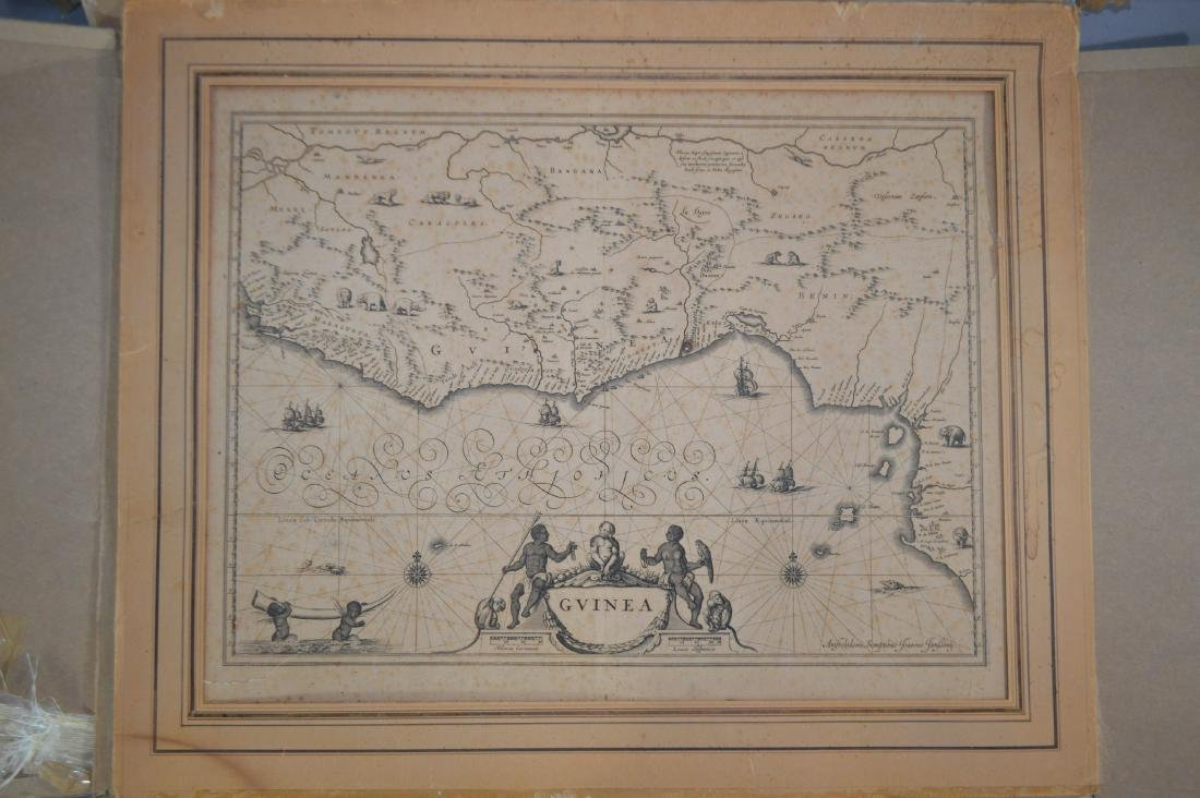 """18TH CENTURY MAP OF GUINEA SIGNED JOANNIS TANBONY 21"""""""