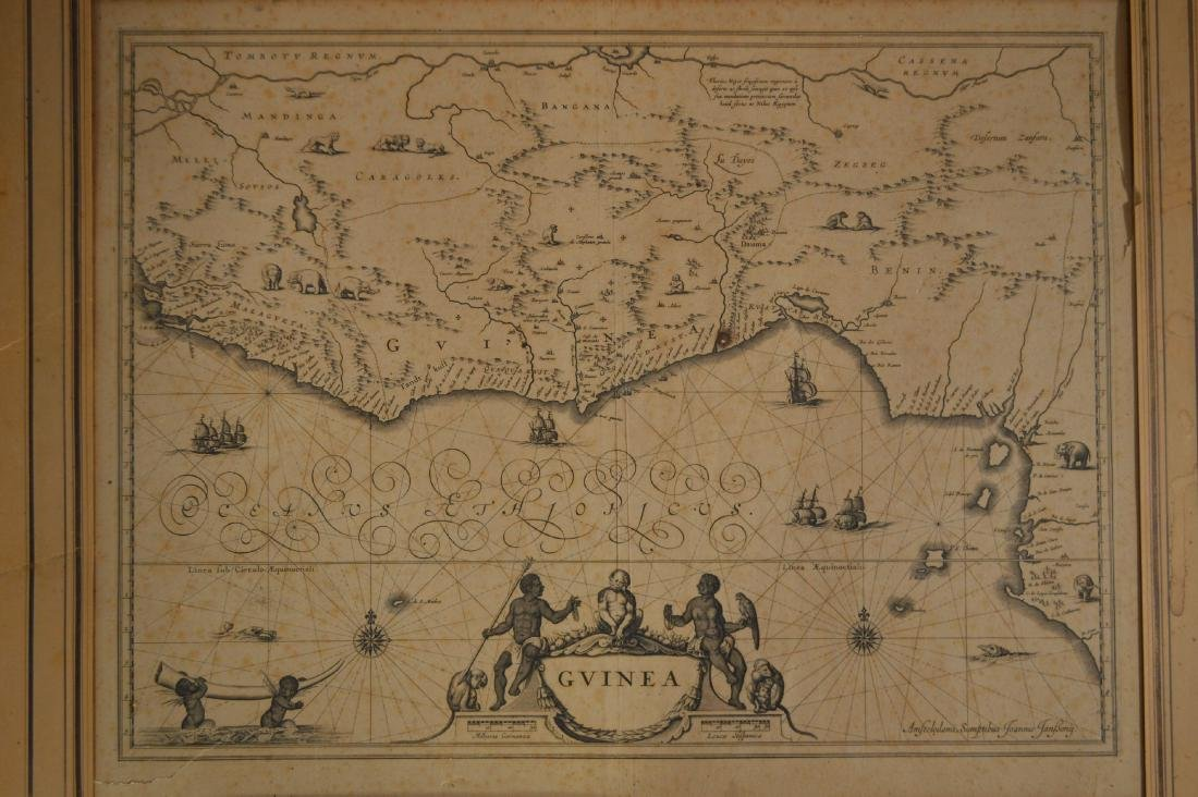 "18TH CENTURY MAP OF GUINEA SIGNED JOANNIS TANBONY 21"" - 2"