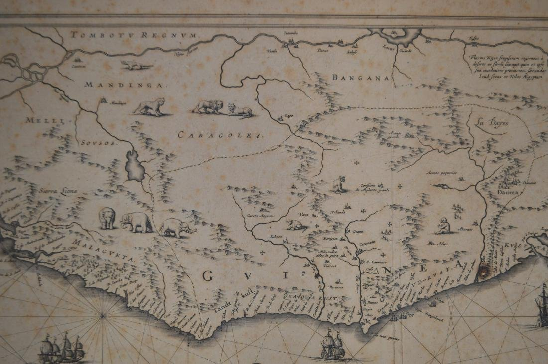 "18TH CENTURY MAP OF GUINEA SIGNED JOANNIS TANBONY 21"" - 4"