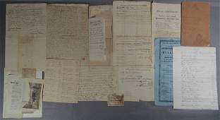 18TH AND 19TH CENTURY DEEDS AND DOCUMENTS RELATING TO