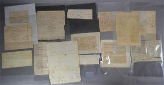 20 18TH AND 19TH CENTURY DEEDS AND LETTERS RELATING TO