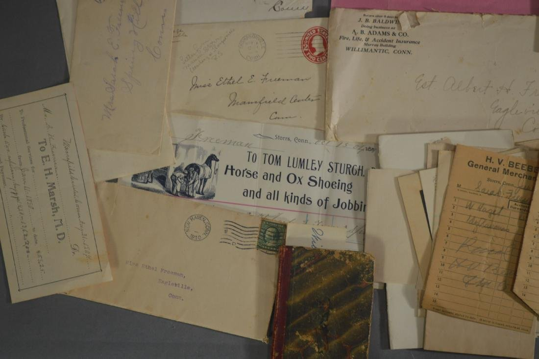LETTER, DEEDS, BILLHEADS, ETC RELATING TO MANSFIELD CT - 4