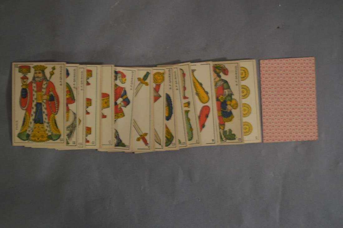 DECK OF 48 19TH CENTURY FRENCH PLAYING CARDS. BP.