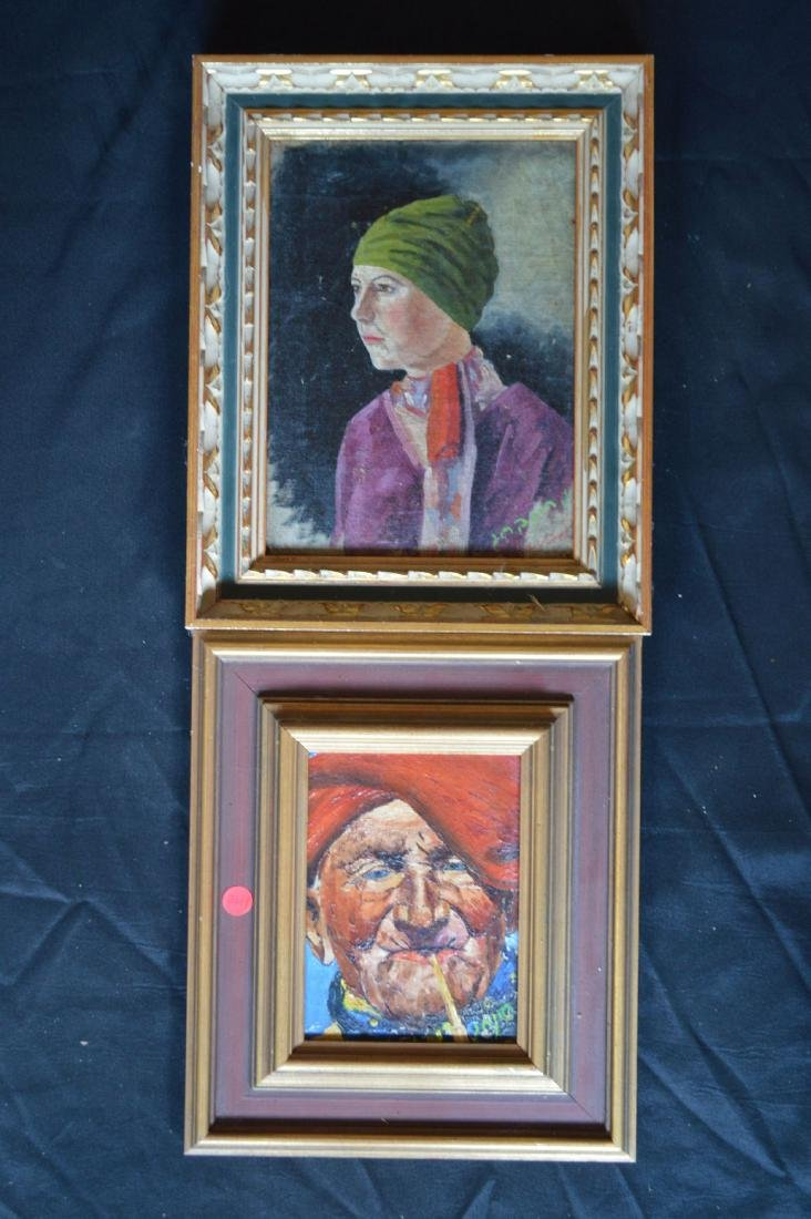 "2 SIGNED RUSSIAN OIL PAINTINGS. 16"" x 13"" AND 12"" x 14"""