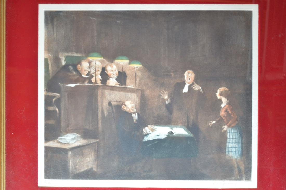 """3 SIGNED AND NUMBERED HOFFMAN COURT PRINTS. 26"""" x 23"""" - 2"""