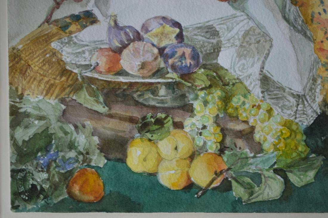 "WATERCOLOR STILL LIFE, SIGNED EBER. 18"" x 24"" - 3"