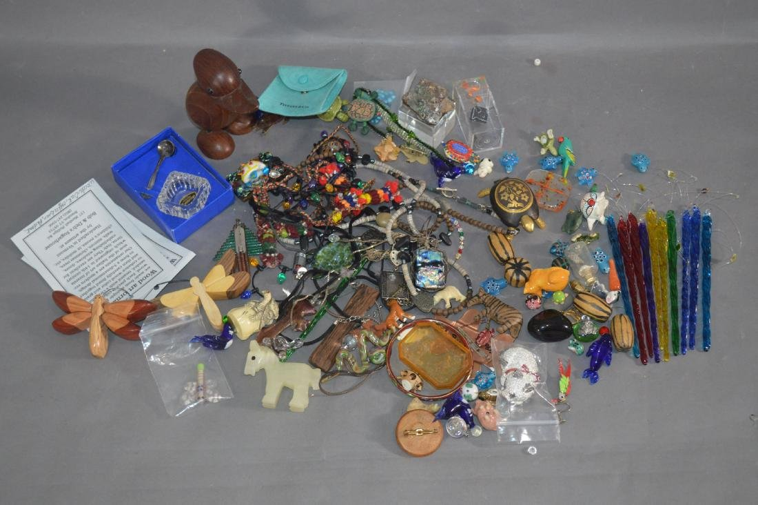 LOT OF ART GLASS AND CRAFT JEWELRY