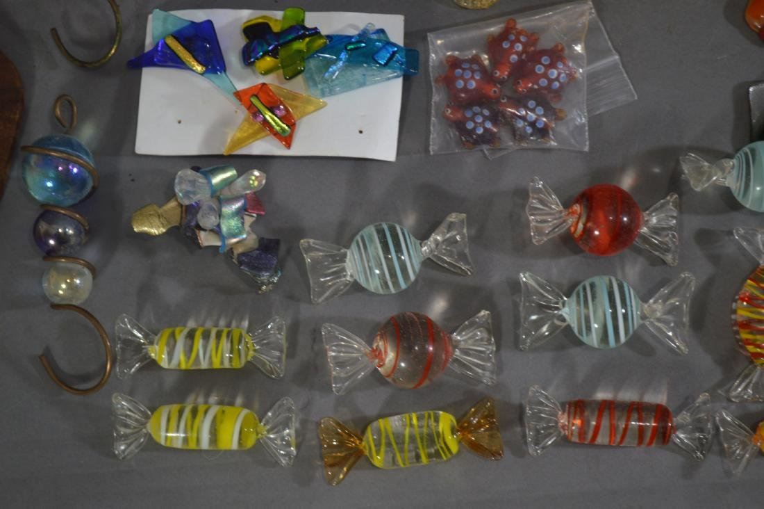 MILLIFIORE TURTLE, ART GLASS BOWL AND OTHER ART GLASS - 2