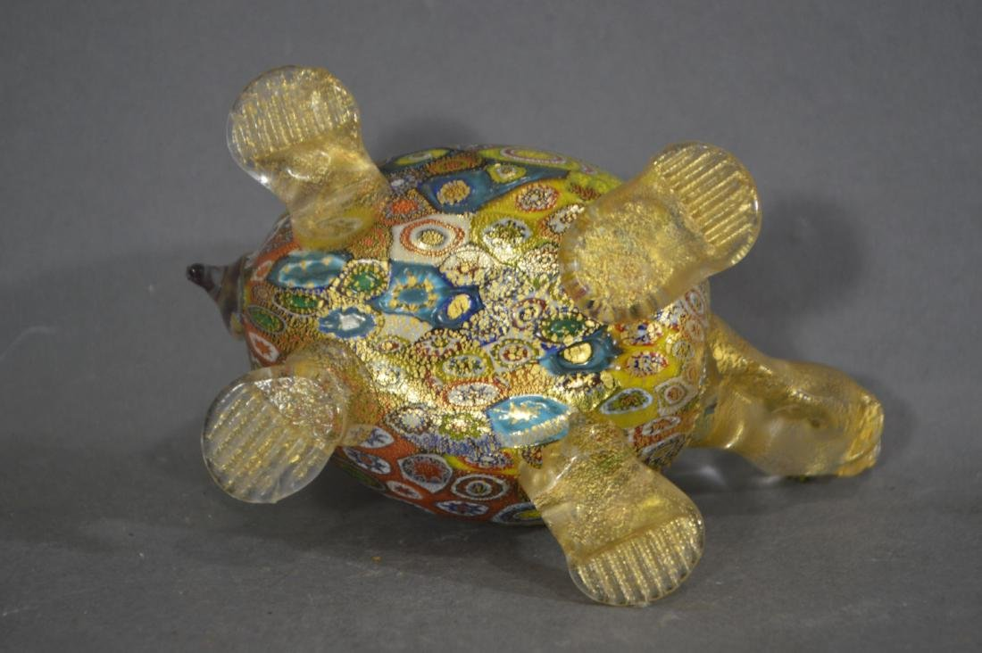 MILLIFIORE TURTLE, ART GLASS BOWL AND OTHER ART GLASS - 5