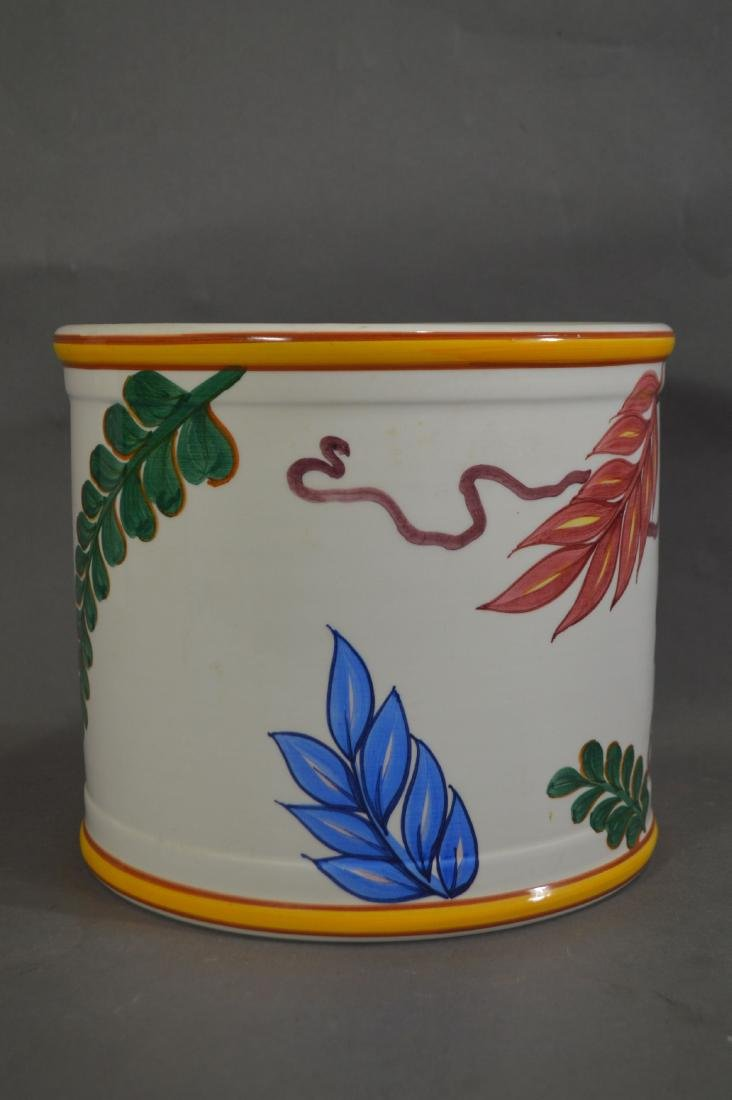 """TIFFANY AND CO. POTTERY PLANTER. 11"""" x 9""""D - 2"""
