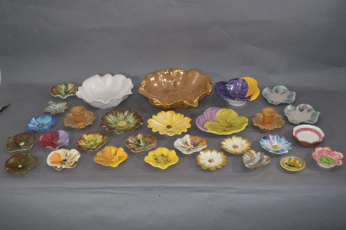 """FLORA FORM STANGL DISHES. 11""""D AND SMALLER"""