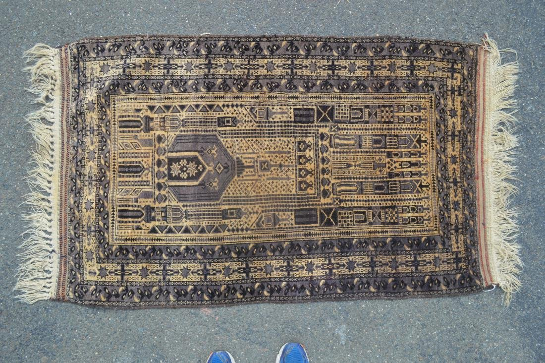 "ANTIQUE PERSIAN PRAYER RUG 60""X 35"""
