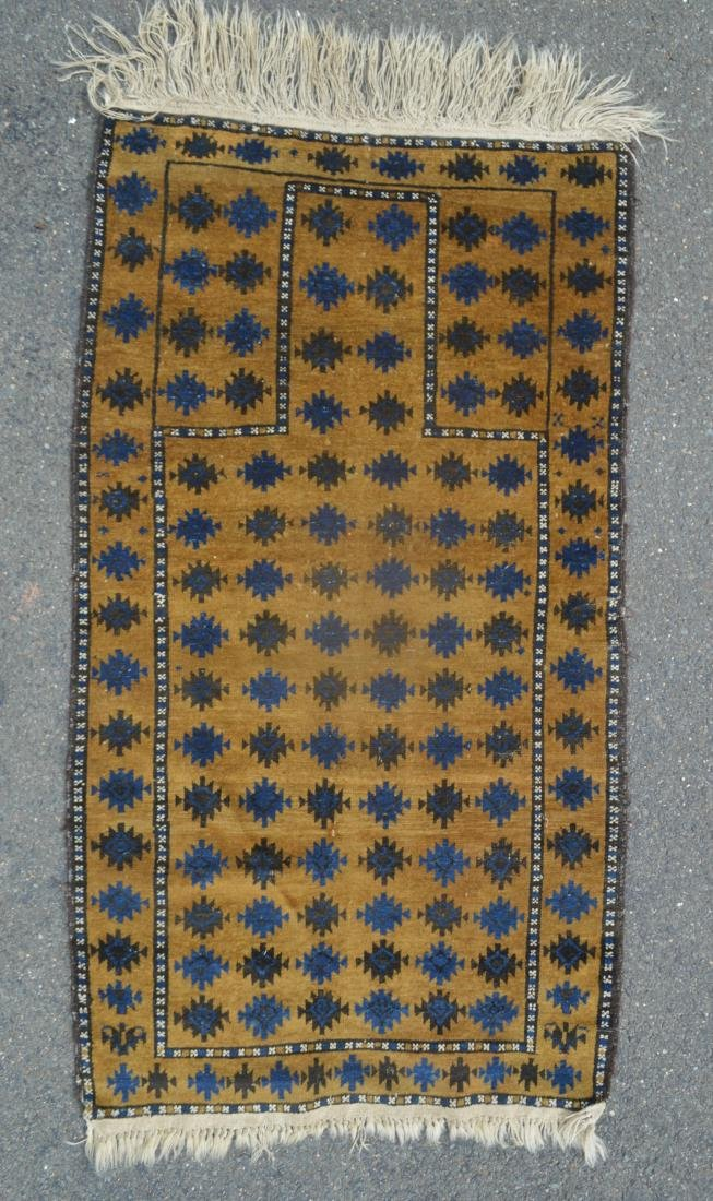 "ANTIQUE PERSIAN PRAYER RUG 64"" X 34"" - 2"