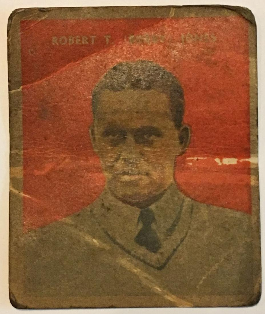 RARE BOBBY JONES 1930 US CARAMEL GOLF CARD EAST BOSTON