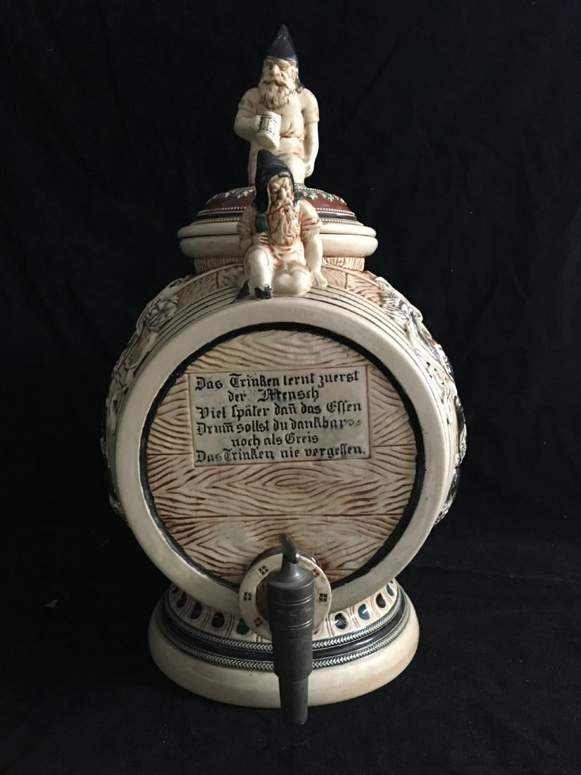 LARGE GERTZ FIGURAL BARREL FORM DISPENSER