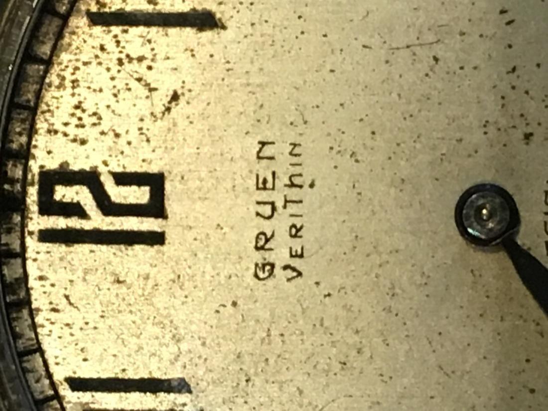 14K GOLD VERYTHIN GRUEN POCKETWATCH 57 G TOTAL - 2