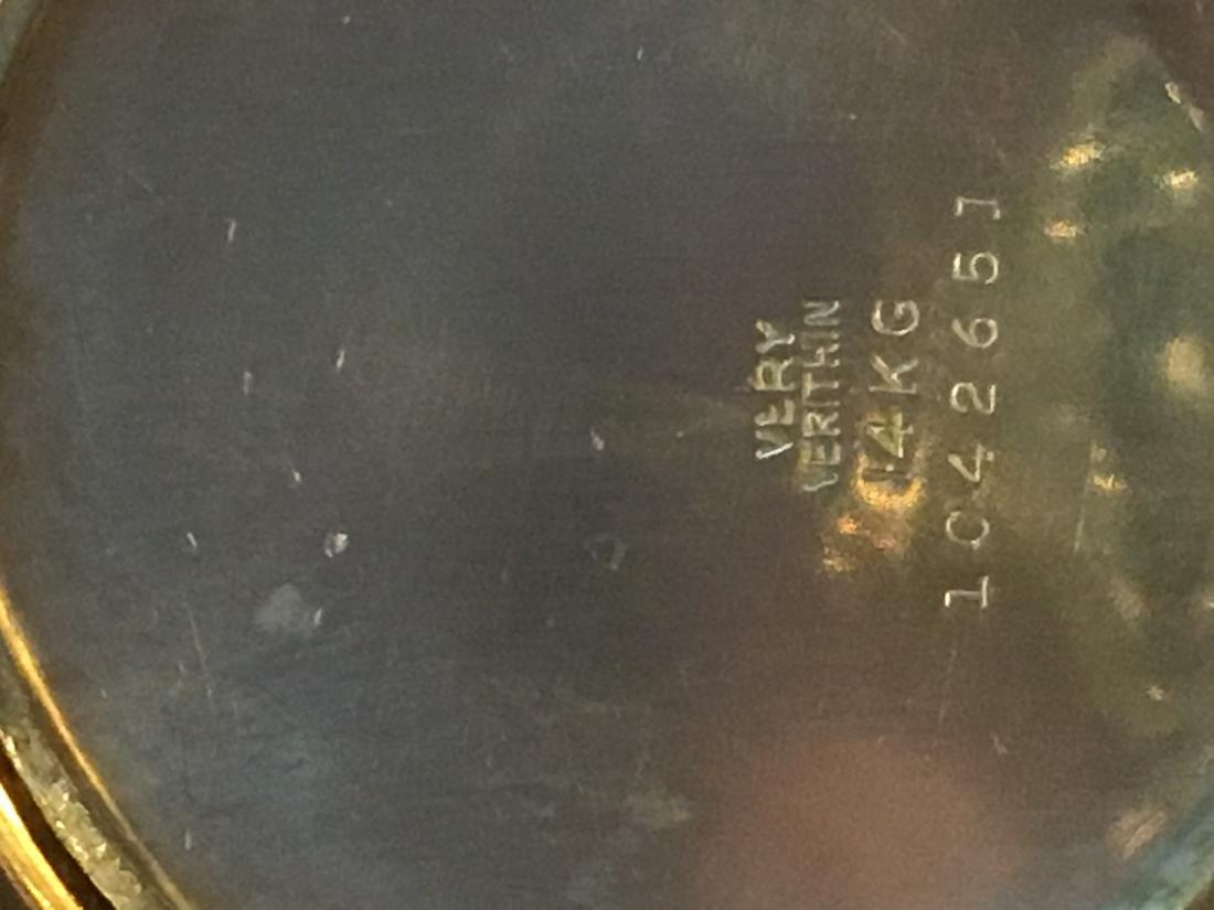 14K GOLD VERYTHIN GRUEN POCKETWATCH 57 G TOTAL - 6