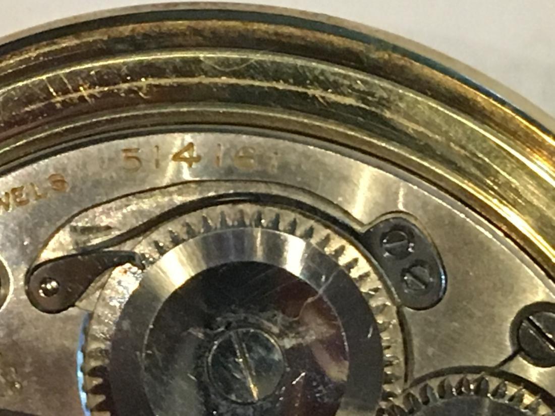 14K GOLD VERYTHIN GRUEN POCKETWATCH 57 G TOTAL - 9
