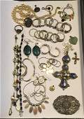 LARGE GROUP OF MOSTLY STERLING SILVER JEWELRY