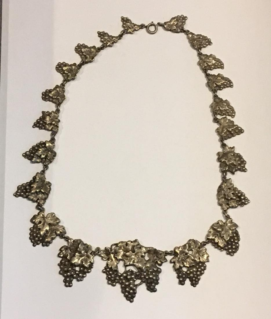 FABULOUS PERUZZI STERLING SILVER GRAPE CLUSTER NECKLACE - 2