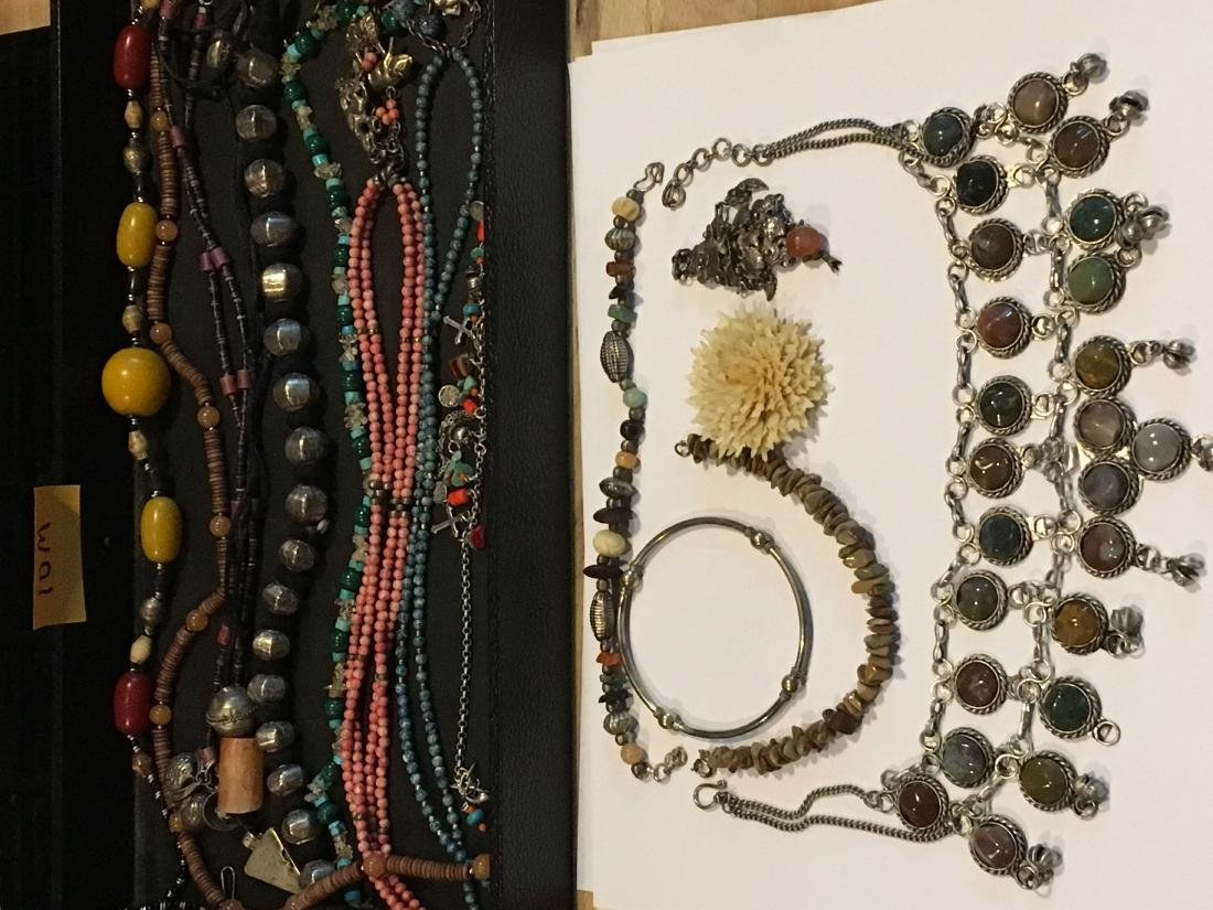 COLLECTION OF BEADED ETHNIC NECKLACES