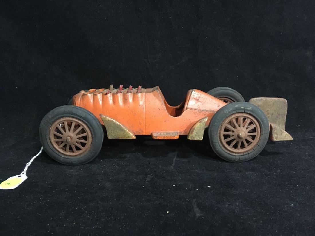 1939 HUBLEY CAST IRON RACE CAR W/ MOVING PISTONS - 2