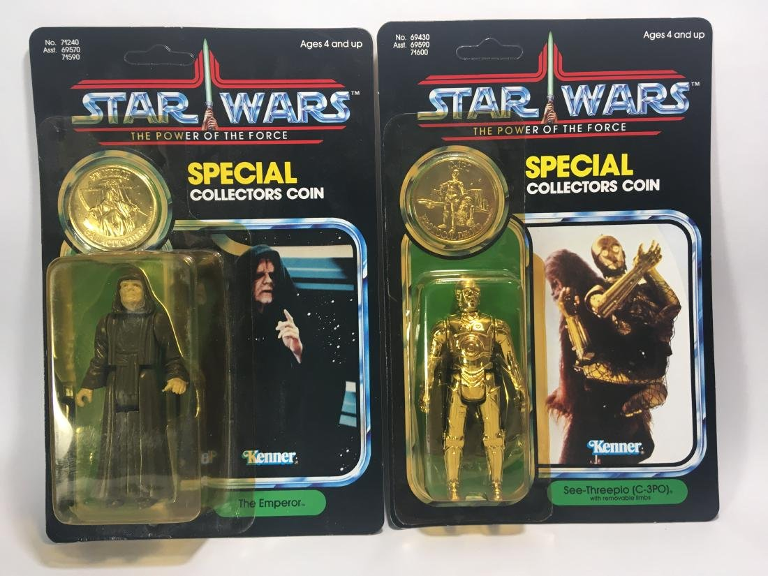 POWER OF THE FORCE C-3PO AND THE EMPEROR. BOTH MIB