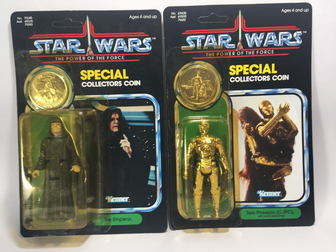 POWER OF THE FORCE C-3PO AND THE EMPEROR. BOTH MIB - 2