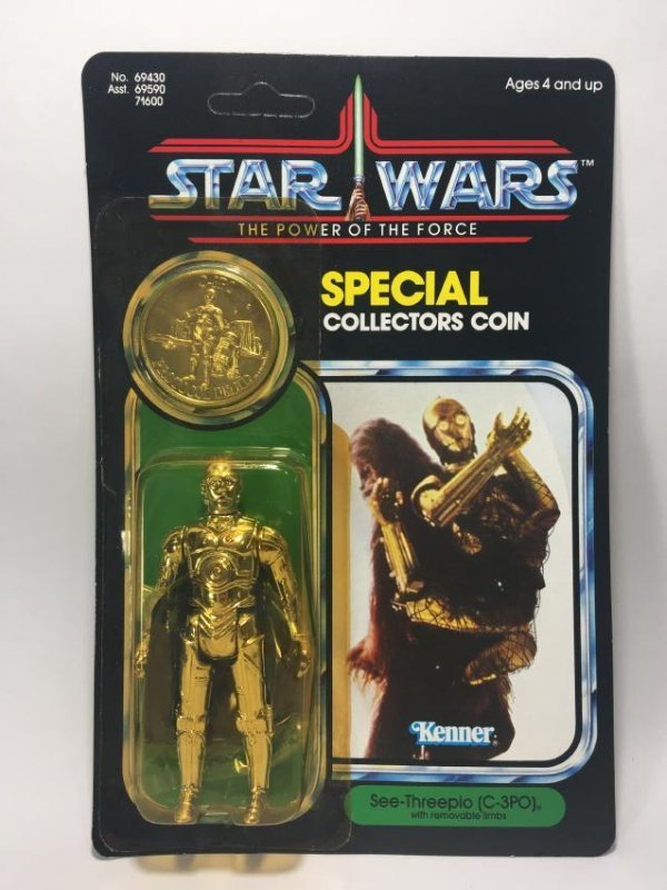 POWER OF THE FORCE C-3PO AND THE EMPEROR. BOTH MIB - 3