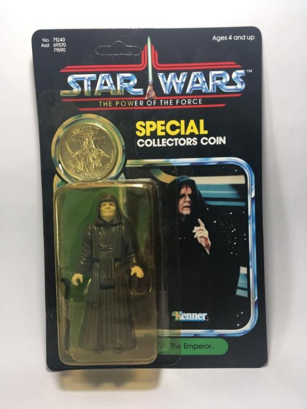 POWER OF THE FORCE C-3PO AND THE EMPEROR. BOTH MIB - 5