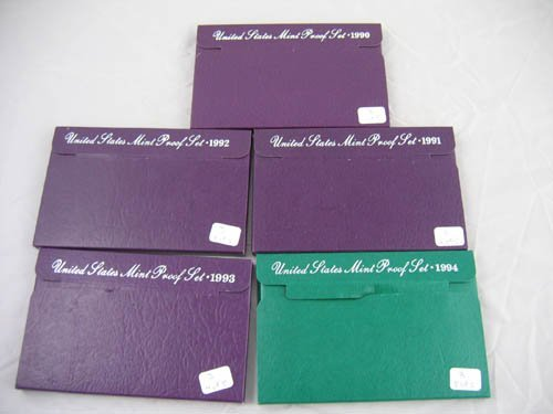 95103: Group of 5 mint proof sets