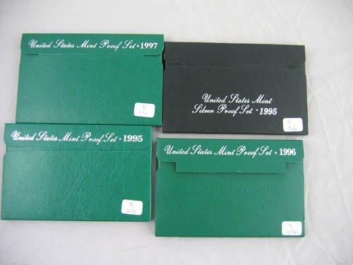 95105: 4 U.S. mint proof sets