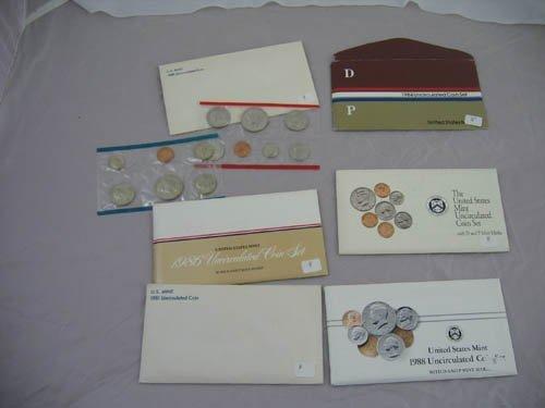 95108: 6 U.S. mint uncirculated coin sets