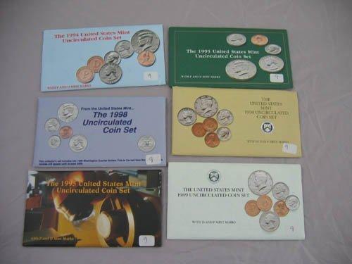 95109: 6 U.S. mint uncirculated coin sets