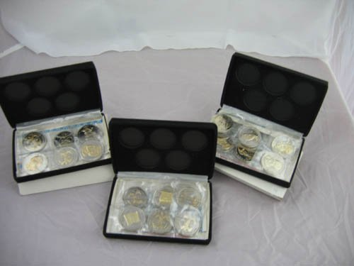 95110: 3 sets National Historic mint commemorative coin