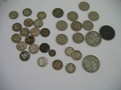 95119: Group of mixed silver coinage