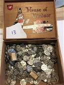 BOX OF 500 SILVER AND SILVER TONED RELIGIOUS MEDALS