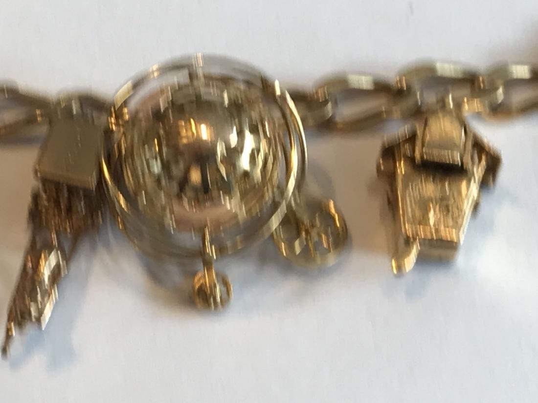 14K GOLD CHARM BRACELET 41.73 GRAMS - 3
