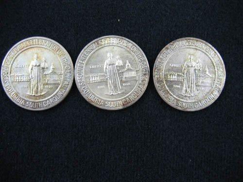 919101: 3 COLUMBIA S.C. COMMEMORATIVE 1/2 DOLLARS